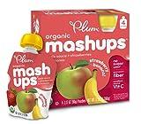Plum Kids Organic Fruit Mashups, Apple Sauce Strawberry Banana, 4 Count
