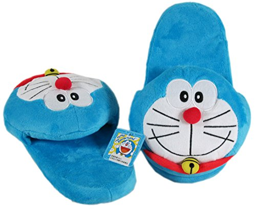 Doraemon Smiling Furry Slippers (2 slippers)