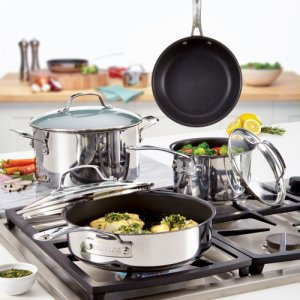 Circulon-Genesis-Stainless-Steel-Nonstick-10-Piece-Cookware-Set