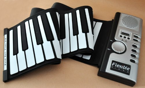 Electric Digital Piano Roll Up Flexible Foldable Portable Soft Music 61 Keyboard