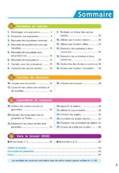 Maths 3e Spécial Brevet - Chouette: Cahier De Révision Et D'entraînement