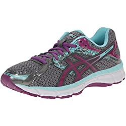 ASICS Women's Gel-excite 3 Running Shoe, Charcoal/Grape/Aqua Splash, 8.5 M US