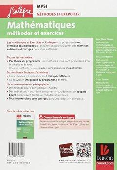 Télécharger Mathématiques Méthodes et Exercices MPSI - 3e éd