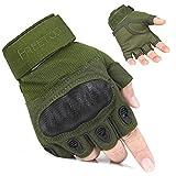 FREETOO Fingerless Tactical Gloves Hard Knuckle Military Gear