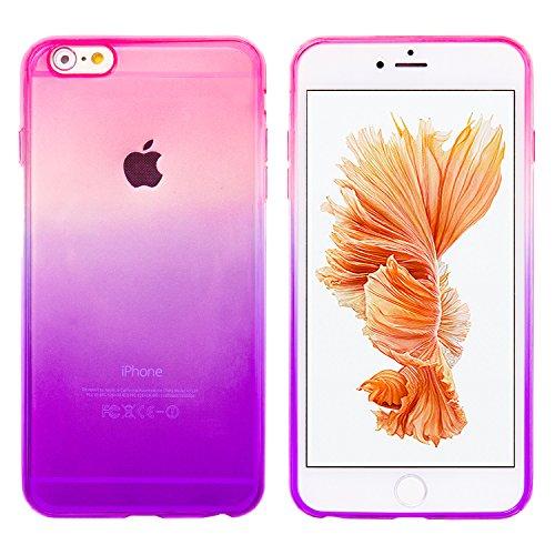モアクリスタルMORE CRYSTAL iPhone6 / iPhone6s4.7インチ用 グラデーション TPUケース パープルピンク スマホ スマートフォン ケース カバー スマホカバー スマホケース iPhone6 iPhone6s アイフォン6ケース アイフォン6sケース 携帯カバー シリコンケース ソフトケース 人気 トレンド 手帳型 フリップケース スタンド a058 15ID12-3-PURPNK