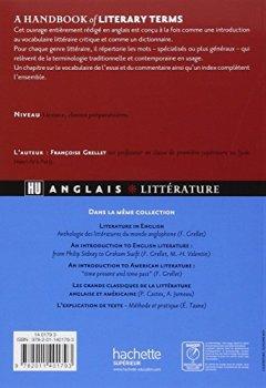 Livres Couvertures de A handbook of literary terms - Introduction au vocabulaire littéraire anglais