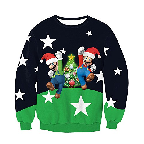 3d Print Ugly Christmas Santa Reindeer Pullover Sweater Jumper Various Design