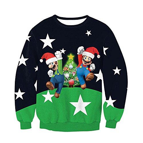 3d Print Ugly Christmas Santa Reindeer Pullover Sweater Jumper Various Design