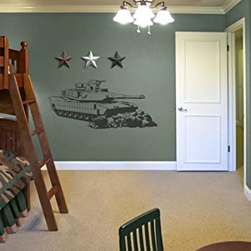 Camo Military Tank Sudden Shadows Wall Decor