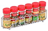 Spice Rack - High Quality Stainless Steel with Shiny Chrome Polish