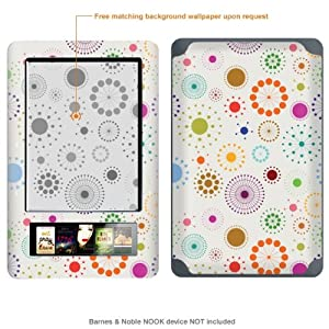 Protective Decal Skin Sticker for Barnes & Noble Nook case cover NOOK-378