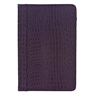 "M-Edge GO! Crocodile-Embossed Patent Leather Kindle Jacket, Amethyst (Fits 6"" Display, Latest Generation Kindle)"