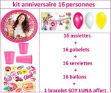 Magnifique-Kit-de-cumpleaos-de-fiesta-Disney-soy-Luna-para-16-personas-regalo-pulsera-soy-Luna-Nouveaute-2016-2017