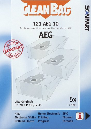 40 Staubsaugerbeutel AEG AEG Original Gr 28 Filtertüten
