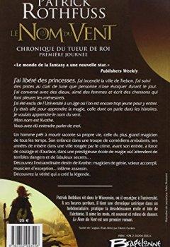 Patrick Rothfuss - Chronique du Tueur de Roi - Première Journée, tome 1 : Le Nom du vent