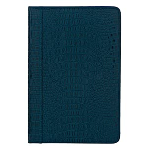 "M-Edge GO! Crocodile-Embossed Patent Leather Kindle Jacket, Marine Blue (Fits 6"" Display, Latest Generation Kindle)"