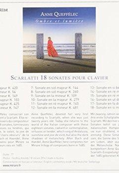 Livres Couvertures de Scarlatti : 18 sonates pour clavier