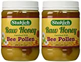 Stakich BEE POLLEN Enriched RAW HONEY 5-LB - 100% Pure, Unprocessed, Unheated -