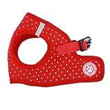 BINGPET BB5004 Polka Dot Soft Vest Dog Puppy Pet Harness Adjustable - Red