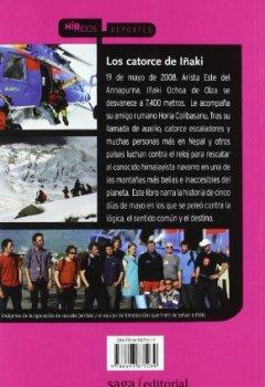 Portada del libro deLos catorce de Iñaki: Crónica del extraordinario intento de rescate del himalayista Ochoa de Olza en el Annapurna (Híbridos)