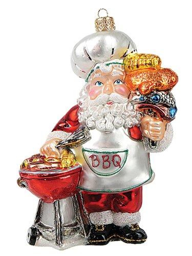 BBQ Barbeque Santa Christmas Ornament