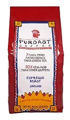 Puroast Low Acid Coffee Espresso Roast Fine Grind, 2.5-Pound Bag