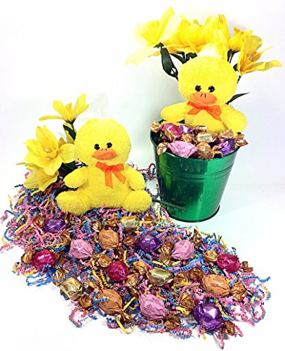 Godiva Yellow Chick Easter Gift Bucket - Gourmet Caramels, Truffles, Chocolates