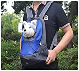 Pesp® Puppy Pet Dog Soft Head Out Chest-style Carrier Front Mesh Travel Bag Backpack (Small)