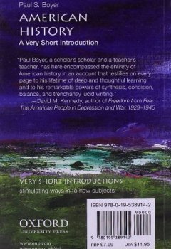 Livres Couvertures de American History: A Very Short Introduction