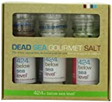 Salt 424 Three Grinder Pack 100% Organic Salts, Garlic Merlot, Iodine and Red Seaweed, 25.11 Ounce