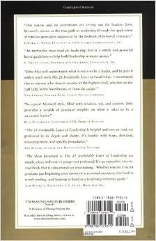 The 21 Irrefutable Laws of Leadership: Follow Them and People Will Follow You: John C. Maxwell, Zig Ziglar: 0020049074312: Amazon.com: Books