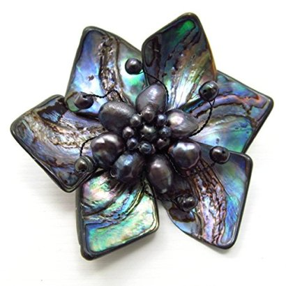 Floral-Dancer-Genuine-Abalone-Shells-Pin-or-Brooch
