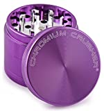 "Chromium Crusher Purple 4 Piece Tobacco Spice Herb Grinder - Pick Your Size (2.2"")"