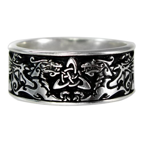 Low Price Wide Celtic Knot Dragon Ring For Men Or Women