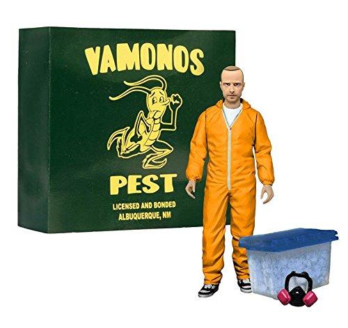 Breaking Bad Jesse Pinkman Orange Hazmat Suit Action Figure - Entertainment Earth Exclusive