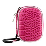 BIRUGEAR Small EVA Pouch Cover Case for Apple iPod Shuffle / Nano 7th 7G Generation MP3 Player - Hot Pink