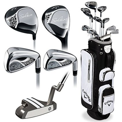 Callaway Women's 2016 Solaire Complete Golf Set with Bag (13-Piece, Right Hand, Black)