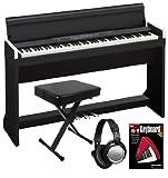 Korg LP-350 Black Digital Piano ESSENTIALS BUNDLE w/ Bench, Headphones