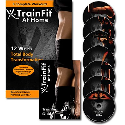 X-TrainFit At Home Workout - Women's Complete Fitness - 8 DVDs