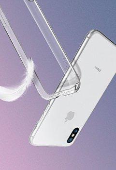 Livres Couvertures de Coque iPhone X, Spigen® [Liquid Crystal] Ultra Fine TPU Silicone [Crystal Clear] Transparent / Adhérence Parfaite / Anti-trace Souple Coque pour Apple iPhone X (2017) - (057CS22118)