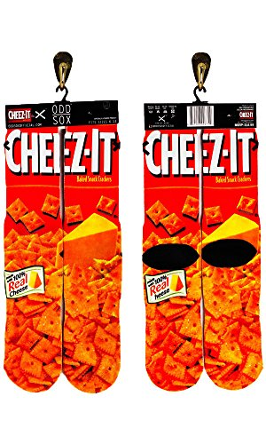 Odd Sox Cheez-It Unisex Socks, Size 6-13