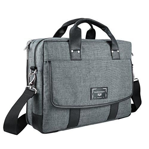 16 ~ 17.3 inch Laptop Bag, Twill Vegan Shoulder Messenger Bag For Laptop, Tablets, 2in1 Convertibles, Ultrabooks, Notebook, Chromebooks & Netbook Computers