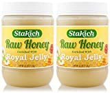 Stakich ROYAL JELLY Enriched RAW HONEY 5-LB - 100% Pure, Unprocessed, Unheated -