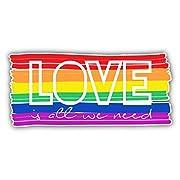 Love LGBT Pride Flag Car Window Bumper Decal Vinyl Sticker 6 X 3