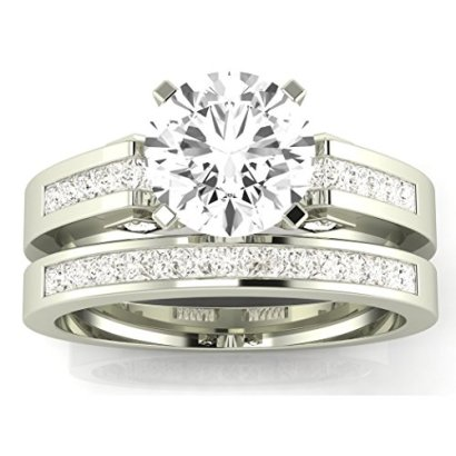 195-Carat-tw-14k-White-Gold-Channel-Set-Princess-Cut-Diamond-Engagement-Ring-with-a-15-Ct-Forever-Brilliant-Round-Moissanite-Center
