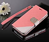 myLife Salmon Pink - Modern Design - Koskin Faux Leather (Card, Cash and ID Holder + Magnetic Detachable Closing + Hand Strap) Slim Wallet for NEW Galaxy S5 (5G) Smartphone by Samsung (External Rugged Synthetic Leather With Magnetic Clip + Internal Secure Snap In Hard Rubberized Bumper Holder)