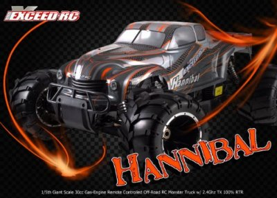 15th-Giant-Scale-Exceed-RC-Hannibal-30cc-Gas-Engine-Remote-Controlled-Off-Road-RC-Monster-Truck-w-24Ghz-TX-100-RTR-COLOR-VARIES-SENT-AT-RANDOM