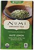 Numi Organic Tea Mate Lemon, Yerba Mate, Green Tea and Lemon Myrtle, 18 Count Tea Bags