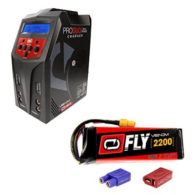 Venom-Fly-30C-3S-2200mAh-111V-LiPo-Battery-with-UNI-20-Plug-Duo-80W-X2-Dual-ACDC-7-Amp-RC-Charger-Combo