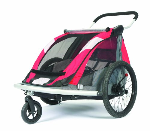 Croozer 525 Double Child Bicycle Trailer Red Silver Grey